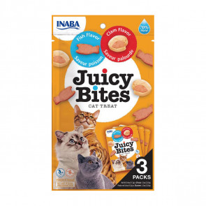 Juicy Bites Fish & Clam Cat Treats - 3 Pack