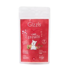 Gizzls Ostrich CBD Small Dog Treats