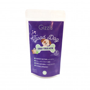 Gizzls Good Dog Peanut Butter & Apple CBD Treats