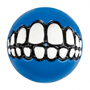 Rogz Grinz Ball Treat Dog Toy-Blue