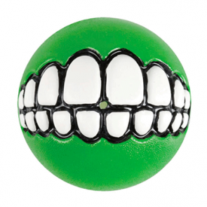 Rogz Grinz Ball Treat Dog Toy-Lime