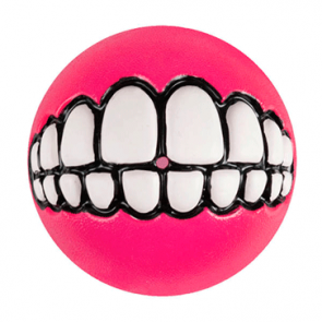 Rogz Grinz Ball Treat Dog Toy-Pink