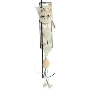 Grumpy Cat Annoying Plush Wand Cat Toy