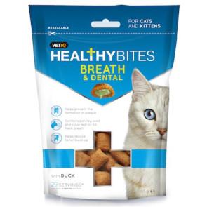 Mark & Chappell Healthy Bites Breath & Dental Cat Treats - 65g