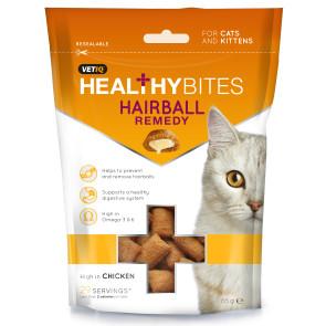 Mark & Chappell Healthy Bites Hairball Remedy Cat Treats - 65g