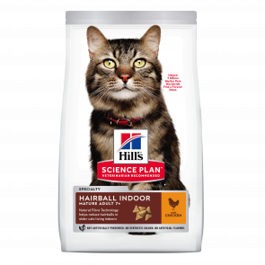 Hill's Science Plan Mature Adult 7+ Hairball Indoor Chicken Cat Food