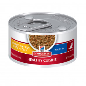 Hill's Roasted Chicken & Rice Medley Mature 7+ Canned Cat Food