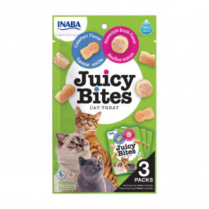 Juicy Bites Homestyle Broth & Calamari Cat Treats - 3 Pack