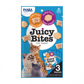 Juicy Bites Scallop & Crab Cat Treats - 3 Pack