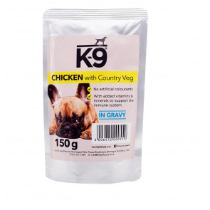 K-9 Chicken & Veg Dog Food Pouch