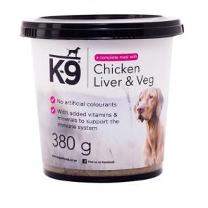 K-9 Chicken Liver & Veg Dog Food Tubs