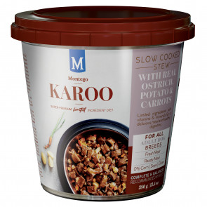Montego Karoo Ostrich Adult Wet Food Tub Bulk Pack - 12x380g