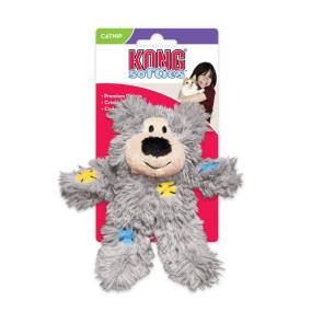 Kong Softies Patchwork Bear Catnip Cat Toy
