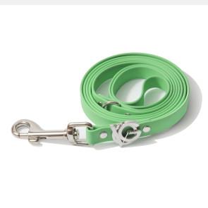 Valgray Premium Waterproof Small Breed Dog Lead - Pistachio & Silver