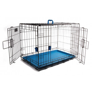 M-Pets Voyager Wire Pet Crates - Blue