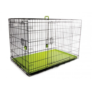 M-Pets Voyager Wire Pet Crate - Green