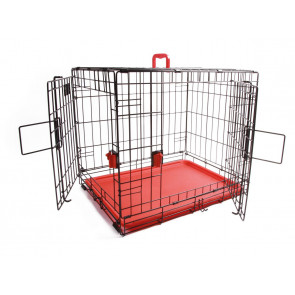 M-Pets Voyager Wire Pet Crates - Red