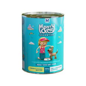 Monty & Me Essential Chicken Adult Wet Dog Food - 420g
