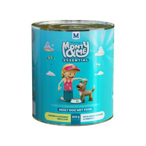 Monty & Me Essential Chicken Adult Wet Dog Food - 820g