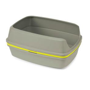 Moderna Lift to Sift Cat Litter Box - Warm Grey and Lemon Yellow