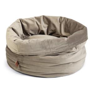 Designed By Lotte Fluco Velvet Cat Basket - Grey