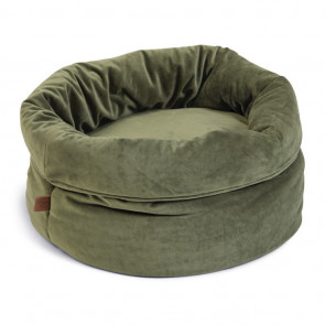 Designed By Lotte Fluco Velvet Cat Basket - Green
