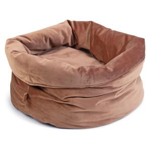 Designed By Lotte Fluco Velvet Cat Basket - Pink