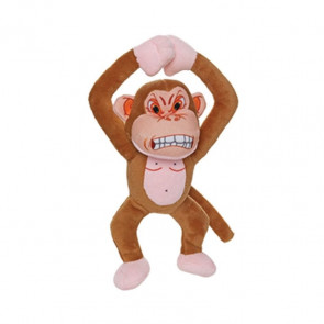 Mighty Toys Mighty Angry Monkey Plush Dog Toy