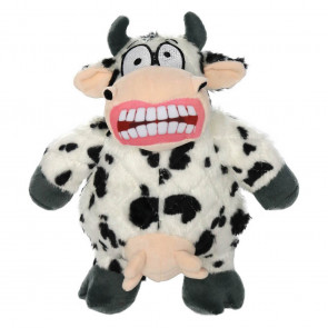 Mighty Toys Mighty Angry Cow Plush Dog Toy