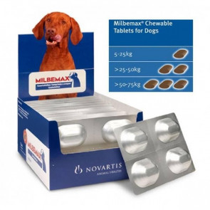 Milbemax Dog 5kg+ Chewable Deworming Tablets