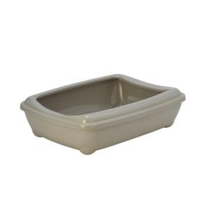 Moderna Arist-o-Tray Medium Cat Litter Tray with Rim - Grey