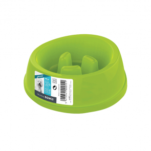 Anti-Scoff Melamine Dog Bowl-Green