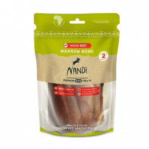 Nandi Karoo Beef Nguni Marow Bone Dog Treats - 2 Pack