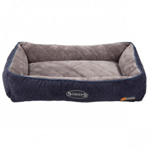 Scruffs Self-Heating Thermal Lounger Cat Bed - Navy Blue
