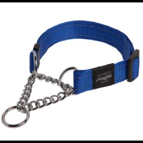 Rogz Utility Obedience Half-Check Dog Collar-Blue