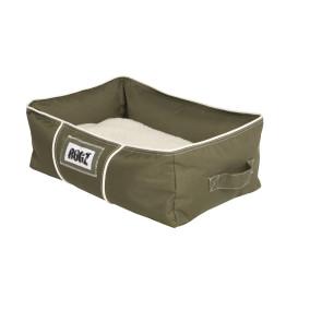 Rogz Lekka 3D Podz Dog Bed-Olive/Natural
