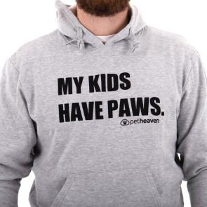 Pet Heaven My Kids Have Paws Hoodie - Grey