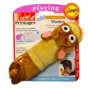 Petstages Stuffing Free Monkey Mini Dog Toy