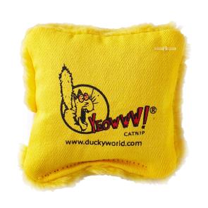 Yeowww! Catnip Pillow Cat Toy - Yellow