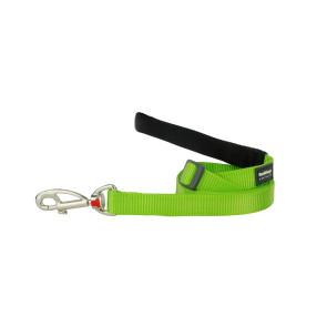 Red Dingo Adjustable Dog Lead - Lime