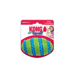 Kong Squeezz Goomz Football Squeaky Plush Dog Toy