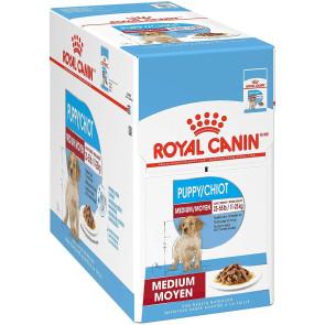 Royal Canin Medium Puppy Wet Food Pouches - 10x140g