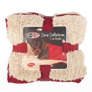 Scruffs Cosy Snuggle Pet Blanket - Burgundy