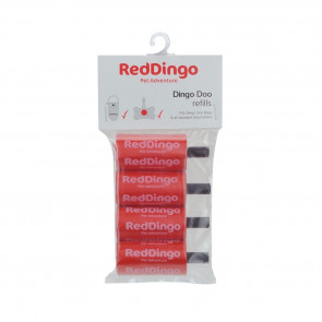 Red Dingo Doo Degradable Refill Bags-Red