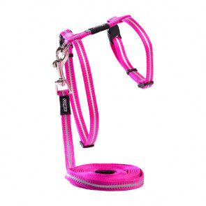 Rogz Alleycat Breakaway Reflective Cat Collar & Harness Combination - Pink