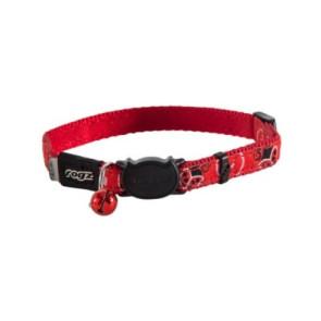 Rogz FancyCat Breakaway Cat Collar-Red