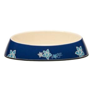 Rogz Fishcake Cat Bowlz-Blue Floral