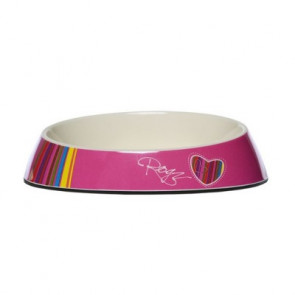 Rogz Fishcake Cat Bowlz-Pink Candy Stripe