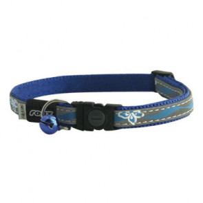 Rogz NightCat Breakaway Cat Collar-Blue