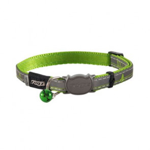 Rogz NightCat Breakaway Cat Collar-Lime